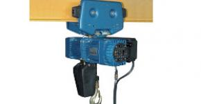Electric chain hoist with hand-push trolley